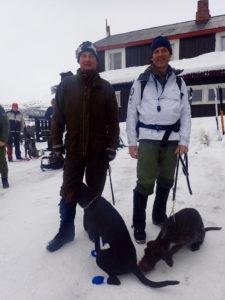 Terje Holmberg med MOlly og Claese Elman med Pippi på Solheimstulen Foto: SKH