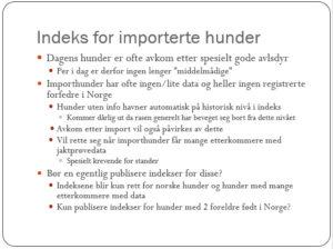 Importhunder - fra Ødegårds foredrag (se hele nederst)