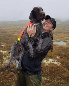 Ellen Marie Imshaug og Munkefjellets Vill Iver da 1. UK var sikret i Ljørdalen i fjor høst.