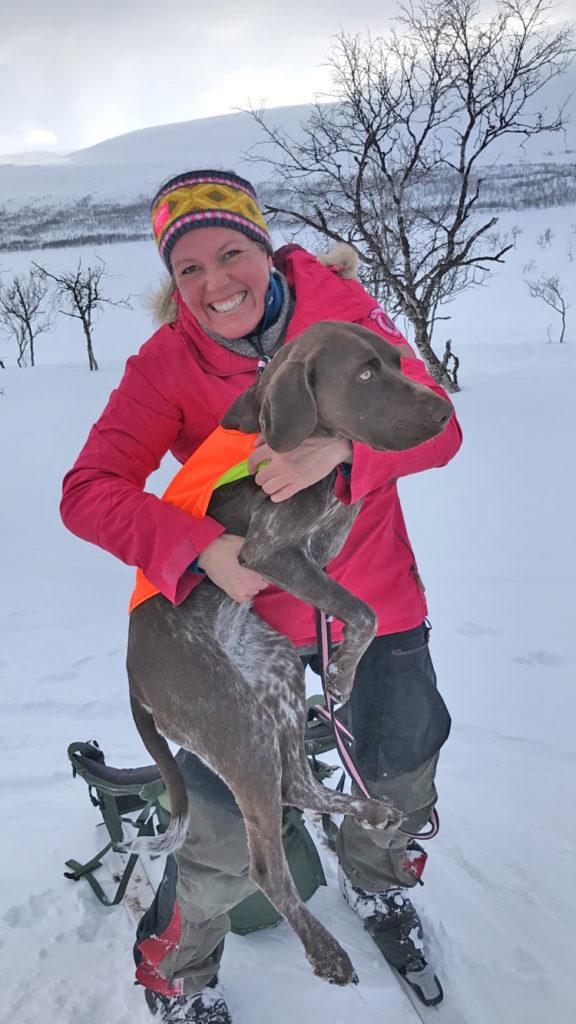Ingeborg Nygaard og Eris på Altevannprøven
