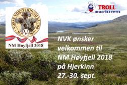 Velkommen til NM høyfjell 2018!