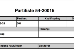 Partilister NM skog